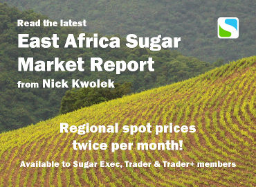 Read the latest East Africa Sugar Market Report from Nick Kwolek. Regional spot prices twice per month. Available to Sugar Exec, Trader & Trader+ members.
